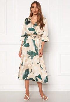 OBJECT Fania 3/4 Dress Humus AOP: Lily Bubbleroom.eu