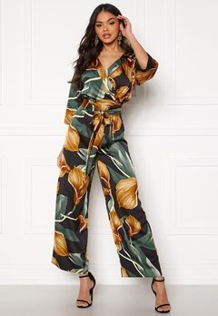 OBJECT Fania L/S Jumpsuit Black, AOP Bubbleroom.eu