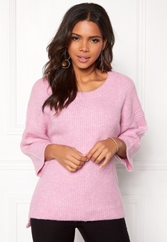 OBJECT Hope 3/4 Knit Pullover Pink Nectar Bubbleroom.eu