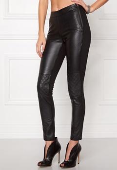 OBJECT Jasmin Leather Leggings Black Bubbleroom.eu