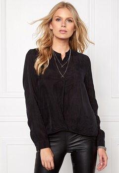 OBJECT Kanoa Cupro L/S Shirt Black Bubbleroom.eu