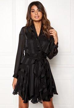OBJECT Katinka L/S Wrap Dress Black Bubbleroom.eu