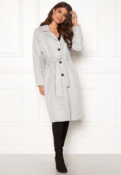 OBJECT Lena Coat Light Grey Melange Bubbleroom.eu
