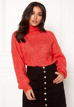 OBJECT Maryam Nete L/S Knit Fiery Red Bubbleroom.eu
