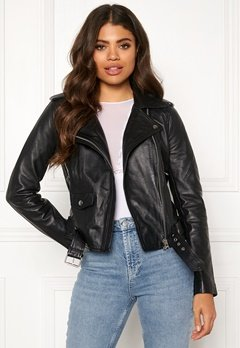 OBJECT Nandita Leather Jacket Black Bubbleroom.eu