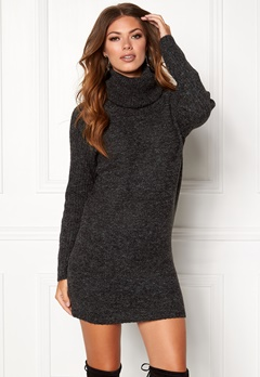 OBJECT Nonsia Rib Rollneck Dark Grey Melange Bubbleroom.eu