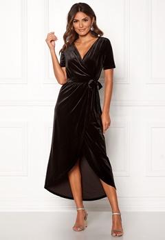 OBJECT Noreena 3/4 Wrap Dress Black Bubbleroom.eu
