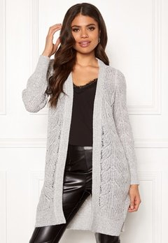 OBJECT Nova Stella L/S Cardigan Light Grey Melange Bubbleroom.eu