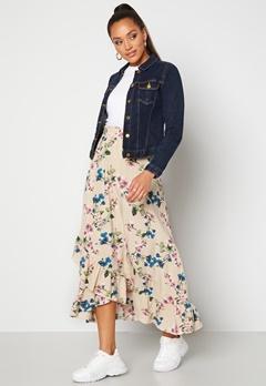 OBJECT Paree Maxi Skirt Sandshell / Flower Bubbleroom.eu