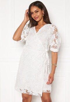 OBJECT Sabrina 2/4 Wrap Short Dress Gardenia Bubbleroom.eu