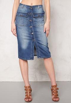 OBJECT Seven Denim Skirt Medium Blue Denim Bubbleroom.eu