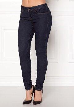 OBJECT Skinny Sally Rinse Jeans Dark Blue Denim Bubbleroom.eu