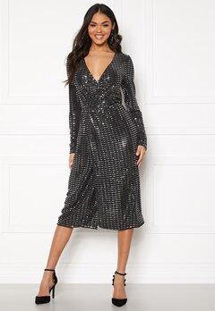 OBJECT Sola L/S Dress Black Bubbleroom.eu