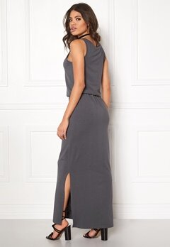 OBJECT Stephanie Maxi Dress Asphalt Bubbleroom.eu