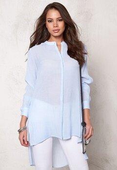 OBJECT Summer L/S Long Shirt Light Blue Denim Bubbleroom.eu