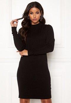 OBJECT Thess L/S Knit Dress Black Bubbleroom.eu