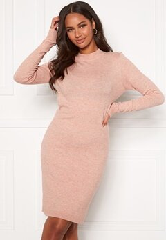 OBJECT Thess L/S Knit Dress Misty Rose Bubbleroom.eu
