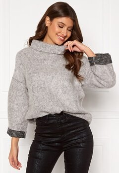 OBJECT Trina Sweat Pullover Light Grey Melange Bubbleroom.eu