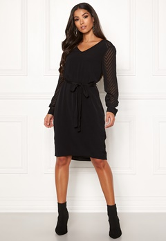 OBJECT Zoe L/S Dress Black Bubbleroom.eu
