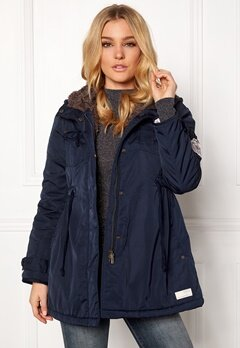 Odd Molly Parky Parka Dark Blue Bubbleroom.eu