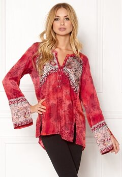 Odd Molly Turned On Blouse Red Bubbleroom.eu