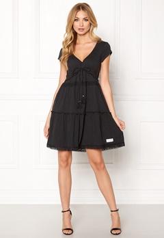 Odd Molly Whiteness Dress Almost Black Bubbleroom.eu