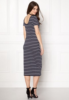 ONLY Abbie Stripe Calf Dress Night Sky Stripe Bubbleroom.eu