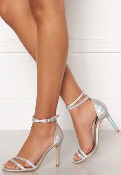 ONLY Aila Pu Iridescent Wrap Heeled Sandal Silver Bubbleroom.eu