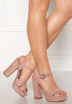 ONLY Allie Wide Heeled Sandal Light Pink Bubbleroom.eu