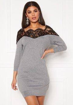 ONLY Ally 3/4 Spring Dress Medium Grey Melange Bubbleroom.eu