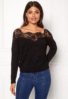 ONLY Ally L/S Pullover Knit Black Bubbleroom.eu