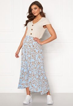 ONLY Alma Poly Plisse Skirt AOP Cashmere Blue Bubbleroom.eu