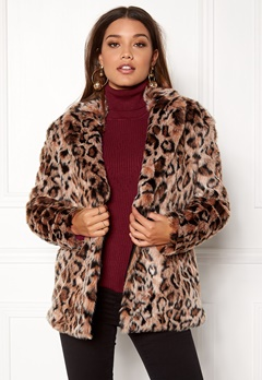 ONLY Amy Fur Coat Silver Mink Bubbleroom.eu