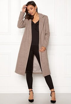 ONLY Amy Sharon Wool Coat Simply Taupe Bubbleroom.eu
