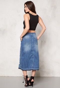 ONLY Ashton Skirt Medium Blue Denim Bubbleroom.eu