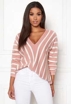 ONLY Aya 7/8 V-Neck Pullover Misty Rose Bubbleroom.eu