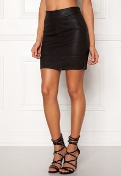 ONLY Base Faux Leather Skirt Black Bubbleroom.eu