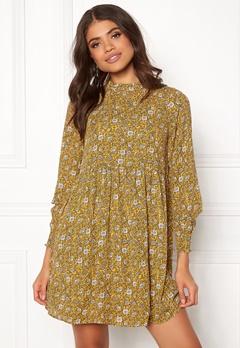Jacqueline de Yong Base New L/S Smock Dress Spicy Mustard Bubbleroom.eu