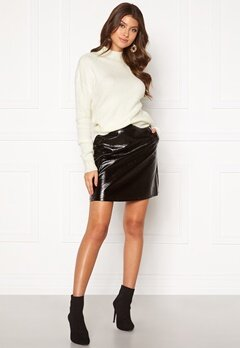 ONLY Bella Faux Leather Skirt Black Bubbleroom.eu