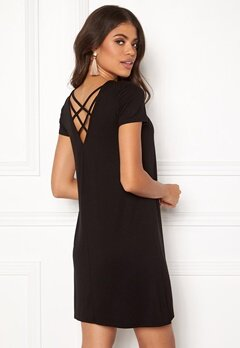 ONLY Bera Back Lace S/S Dress Black Bubbleroom.eu