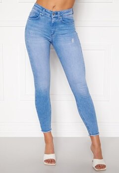 ONLY Blush Life Mid Raw Jeans Light Blue Denim Bubbleroom.eu