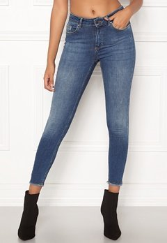 ONLY Blush Mid Ank Raw Jeans Dark Blue Denim Bubbleroom.eu