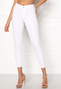 ONLY Blush Mid Ankle Jeans White Bubbleroom.eu