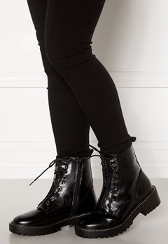 ONLY Bold PU Lace Up Boot Black Bubbleroom.eu