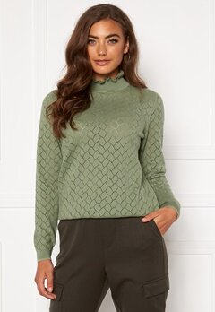 ONLY Brandi Life L/S Pullover Hedge Green Bubbleroom.eu