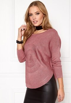ONLY Bridget l/s Pullover Knit Mesa Rose Bubbleroom.eu