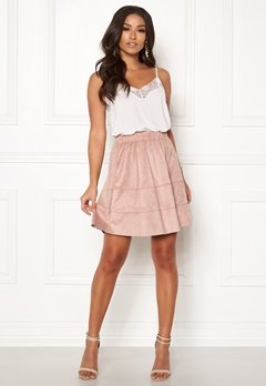 ONLY Carma Faux Suede Skirt Adobe Rose Bubbleroom.eu