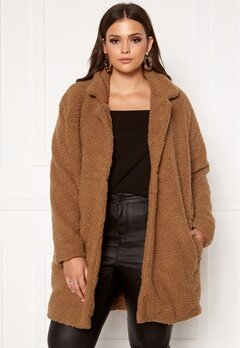 Only Carmakoma Aura Sherpa Coat Toasted Coconut Bubbleroom.eu