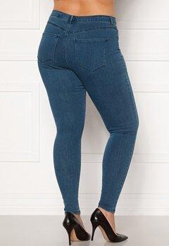 Only Carmakoma Storm Push Up HW SK Jeans Medium Blue Denim Bubbleroom.eu