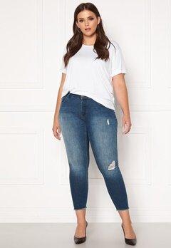 Only Carmakoma Willy Reg Skinny Ank Jeans MBD Medium Blue Denim Bubbleroom.eu